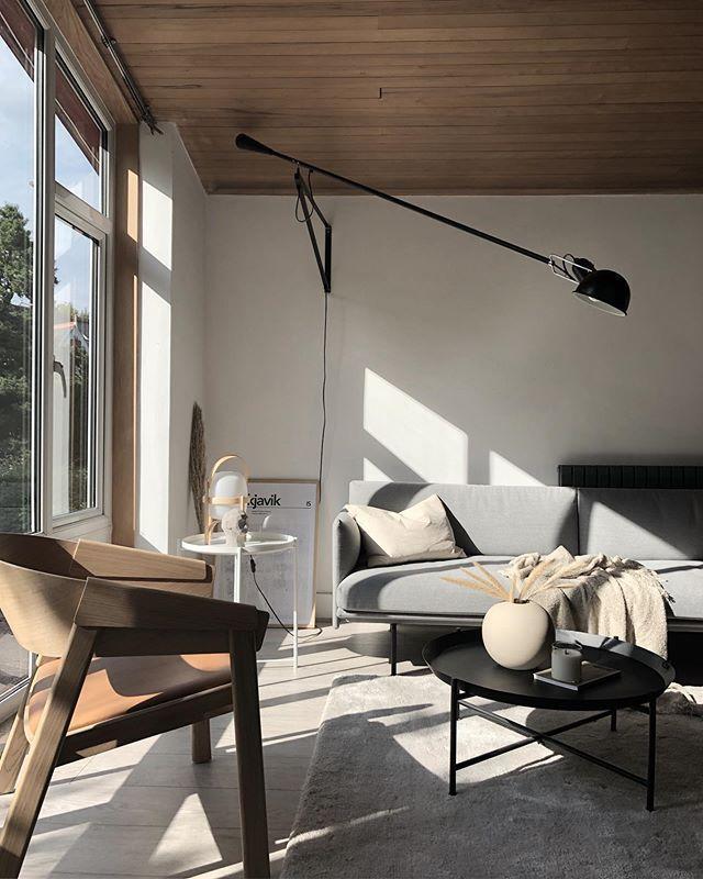 Scandinavian Living Room With 265 Flos Wall Lamp Muuto Sofa And Armchairs Scandinaviand Living Room Scandinavian Scandinavian Living Vintage French Furniture