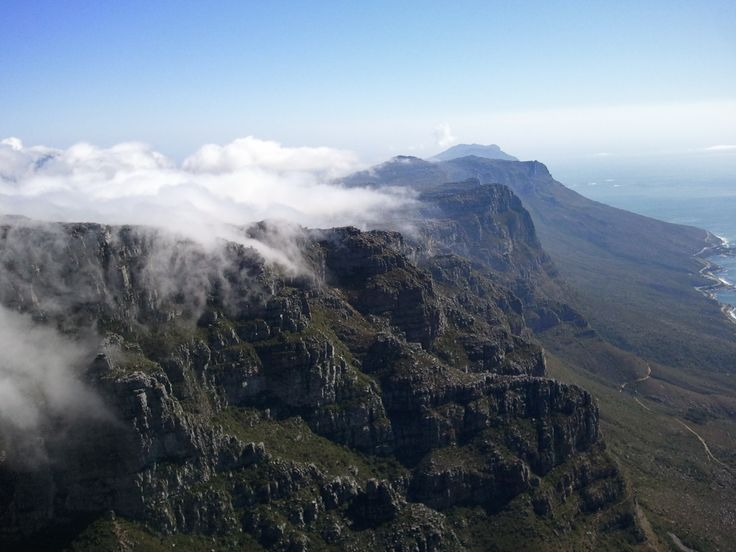 Clouds over Table mountain...