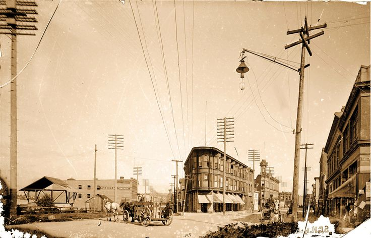 Cordova and Water Streets, ca. 1895 Source: Photo by Norman Caple, City of Vancouver Archives #SGN 446