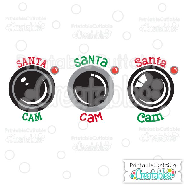 Santa Cam Free SVG Cutting File - Free SVG Files, SVG, Cricut Explore, Cricut, Silhouette, Silhouette Cameo, Silhouette Portrait, Free SVG cuts, Eclips, Cutting Files, Make the Cut, Sure Cuts a Lot, SCaL, and other electronic craft cutting machines for scrapbooking, card making, paper crafting, and more! #diychristmasornaments