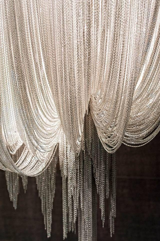 Elaborate Silver Ball Chain Curtain Chandelier Http Www