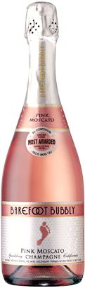 You can always count on barefoot for any type of wine from Pink Moscato Bubbly to a shiraz!