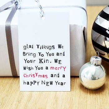 'Glad Tidings We Bring…' Christmas Gift Tags