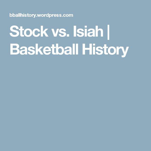 Stock vs. Isiah | Basketball History