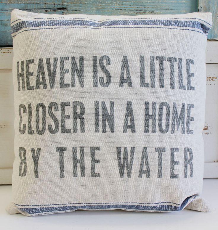 Heaven is a Little Closer Throw Pillow - Beach Chic Cottage Home Decor - California Seashell Company