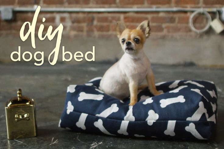 DIY Dog Bed Tutorial | This quick and easy tutorial gives you the all the tools you need to sew two pet bed sizes- small and large- with Crypton stain and odor resistant home decor fabric!                      fabric.com Blog