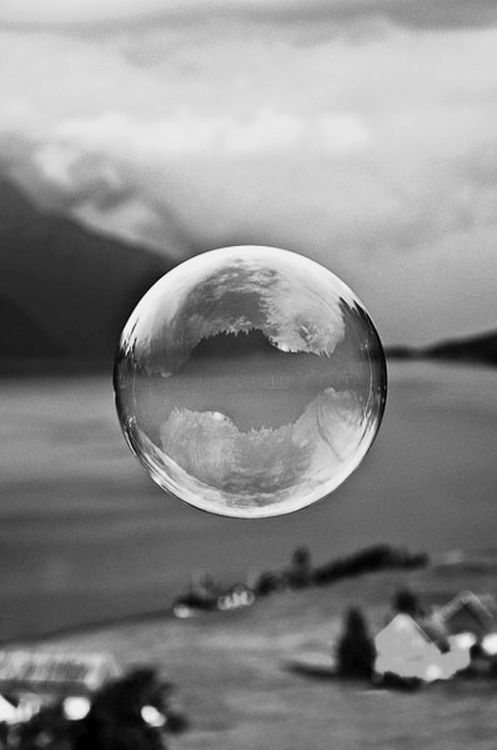 Fotografía en blanco y negro | Black  White photography | Bubble