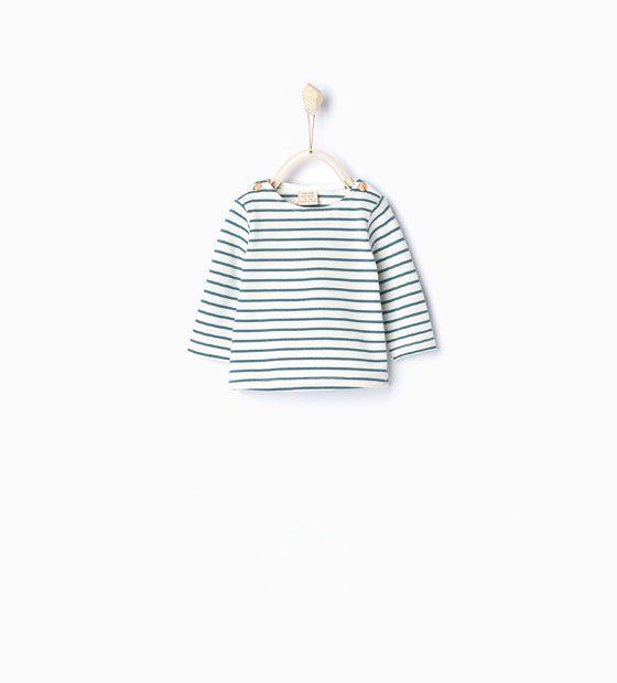 Organisch katoenen shirt met strepen