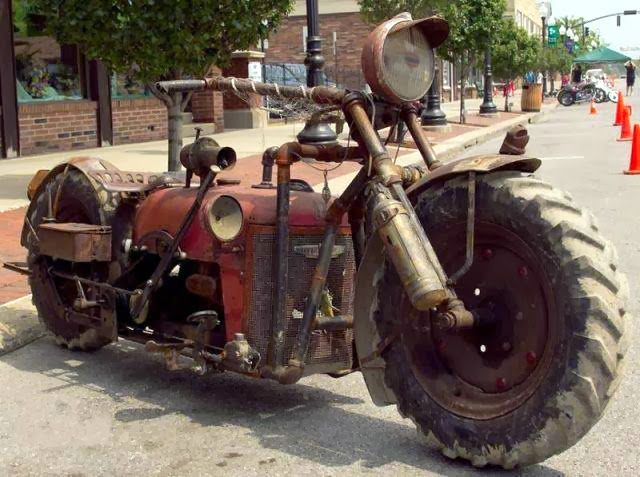 Rat bike made from a tractor!