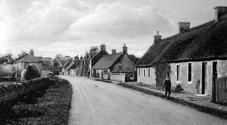 Old Photograph Image Of Cottages In Auchtermuchty Village