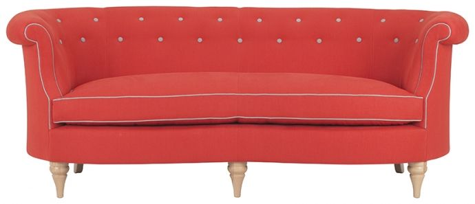 Clanfield buttoned sofa in Harris plains I spice