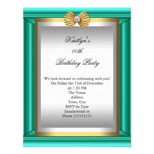 21 best cheap 70th birthday invitations images on pinterest teal blue jade gold silver womans birthday party card filmwisefo Choice Image
