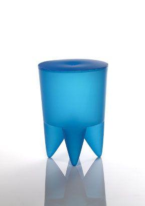 Bubu 1er | by Philippe Starck, France | manufacturer: XO | 1986 | Vase, universal container, laundry basket, ice bucket, small pedestal table, stool, tooth, crown ... It's up to you to invent the rest. | Vase, fourre-tout, panier à linge, seau à glace, petit guéridon, tabouret, dent, couronne ... A vous d'inventer la suite.