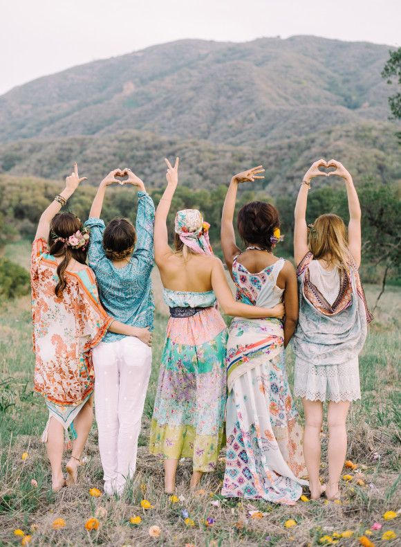 In love with this bohemian bridesmaid inpirations shoot | Photography: Mariel Hannah Photography