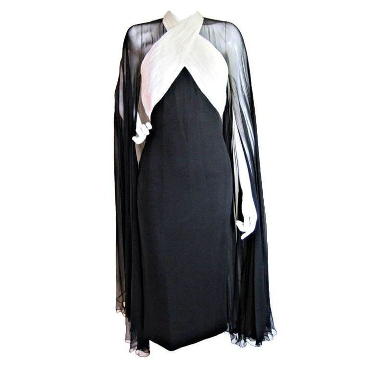 1990's Murray Arbeid Chiffon Cocktail Dress