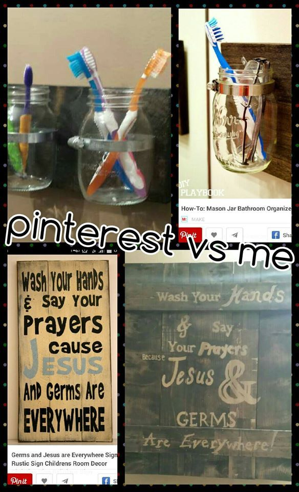 medicine cabinet hubby built I just painted it- love the mason jars