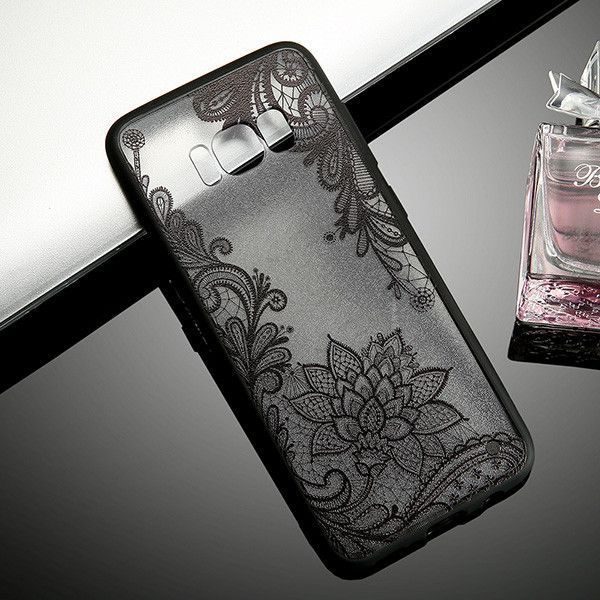 Paisley Flower Mandala Henna Clear Phone Cases For Samsung Galaxy S8 Plus S7 S6 edge