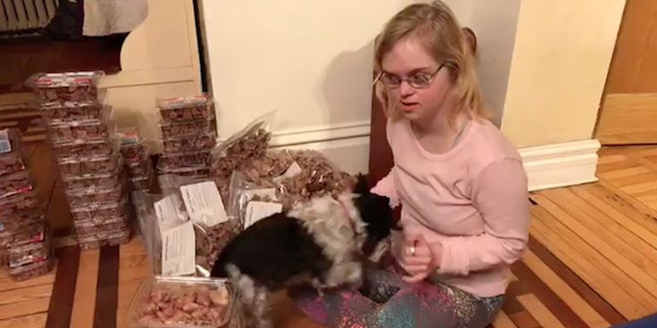 """""""What drives this young entrepreneur? Seeing the dogs she makes happy."""""""