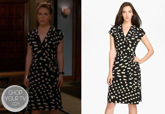 Shop Your Tv: Mistresses: Season 1 Episode 5: Savi's Black and White Wrap Dress