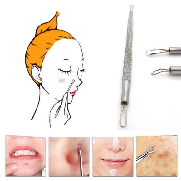 Pimple popping tool This pimple popping tool is used by Dr. pimple popper and is amazing. It's brand-new and it's package and is never been used.Iit is sharp on one end and on the other and it's round!!!! Makeup
