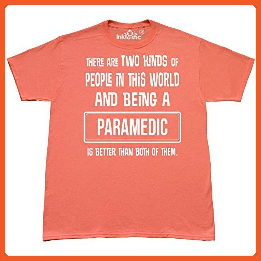 Inktastic - Paramedic Funny Job Gift T-Shirt Large Retro Heather Coral - Retro shirts (*Partner-Link)