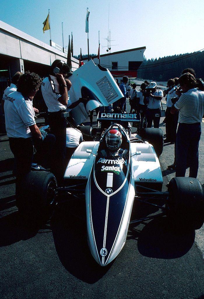 1982, Belgian GP, Zolder, Nelson Piquet, Brabham BT50.