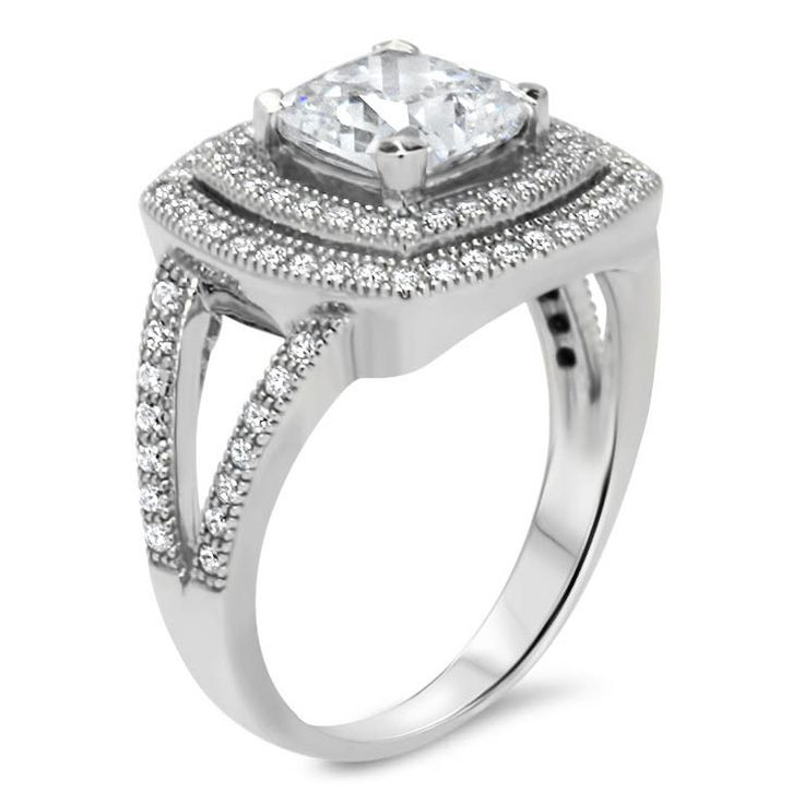 103 best Halo Engagement Rings images on Pinterest