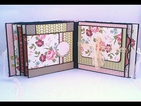 Secret Garden (kaisercraft ) mini scrapbook album - YouTube