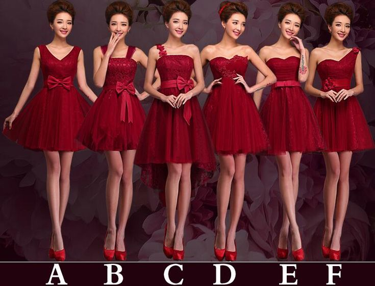 Red mismatched bridesmaid dresses, Tulle bridesmaid dress, prom dress bridesmaid, Lace bridesmaid dress, short bridesmaid dresses, 16340 sold by OkBridal. Shop more products from OkBridal on Storenvy, the home of independent small businesses all over the world.
