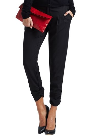 bird keepers The Best Seller Pant - Black Pant with ankle ruching detail - Womens Pants - Birdsnest Online