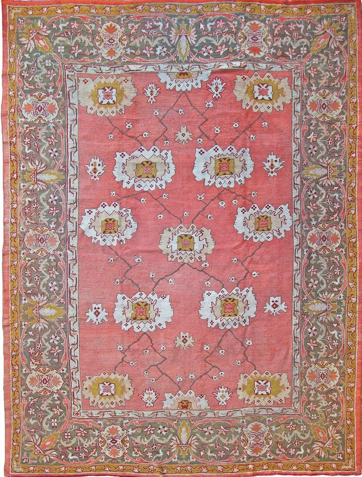 "Turkish Ushak rug, 12'2"" x 10'3"", ca 1880, Farnham Antique Carpets"