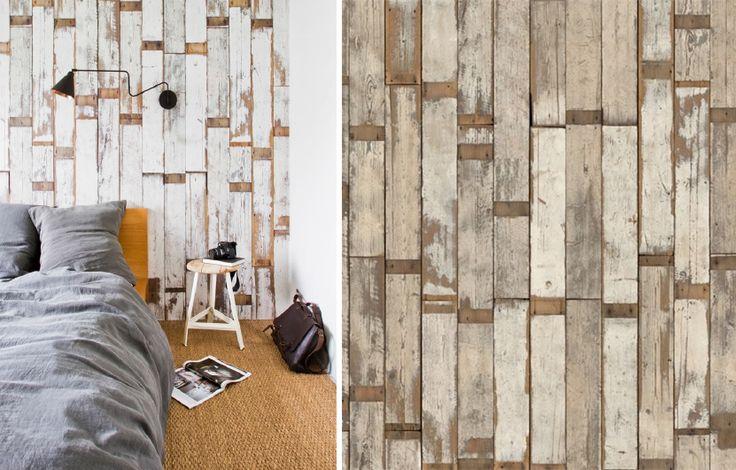 Papier peint effet de mati re bois id es pour la maison pinterest searc - Papier peint effet matiere ...