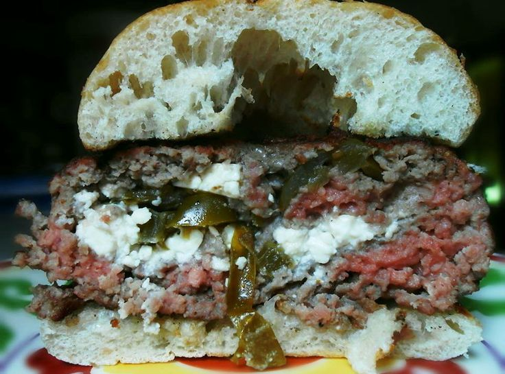 Grilled Stuffed Burger | What's Smoking and Grilling | Pinterest