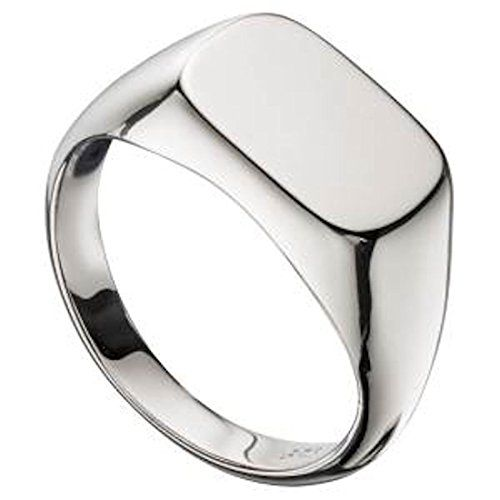 MEN'S SOLID SILVER SIGNET RING . Sizes Q up to Z2 supplied you choose below…