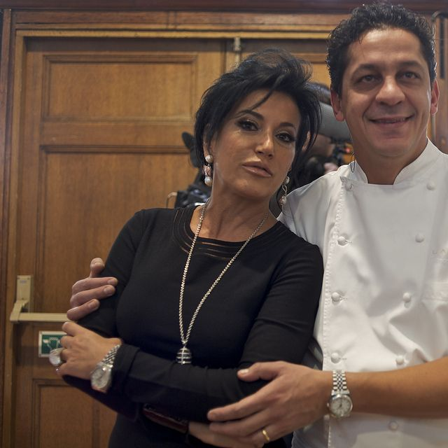 London Daily Photo: Nancy Dell'olio and Francesco Mazzei at Welcome Italia