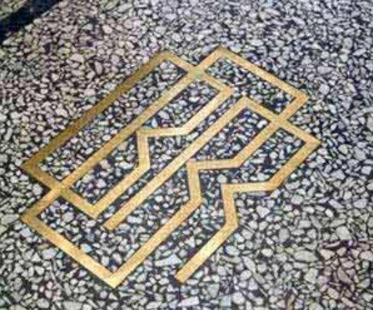 brass/terrazzo inlay | Floors | Pinterest | Terrazzo ...