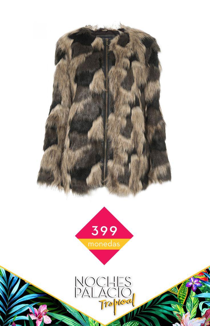 Abrigo Fur Pepe Jeans - #NochesPalacio http://soy.ph/Pin_Abrigo_Pepe