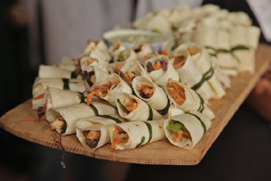 Mini Wraps served as Canapes