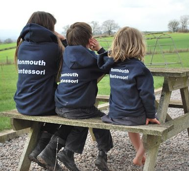 Monmouth Montessori School new branded sweatshirts. They love them. Even the teachers are wearing them.