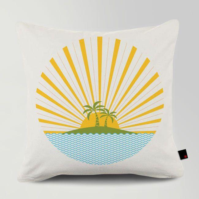 SUMMER SUN / Designed by Fimbis / Made by OneRevolt.com / #쿠션 #원리볼트 #인테리어 #홈데코 #pattern #design #cushion