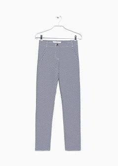 Pantaloni zig-zag jacquard