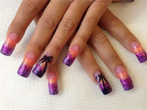 17 best images about tropical nail art on pinterest  nail