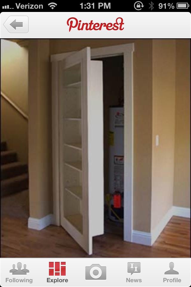 Bookcase Closet Door