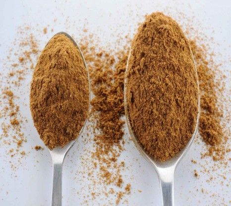 Garam Masala powder is a grounded mix of several spices such as cardomom, cinnamom, corainder, cumin, black pepper corns, bay leaves and nut...