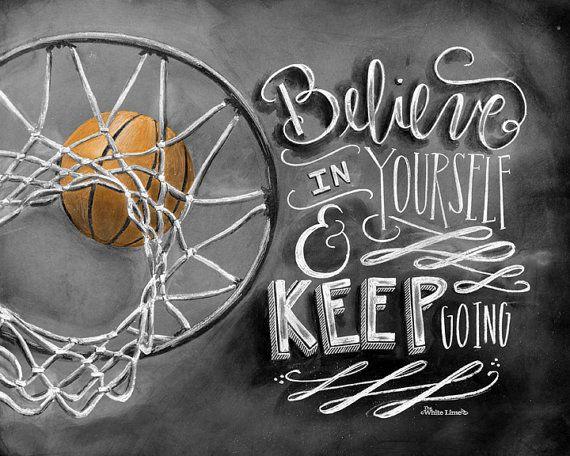 Basketball Decor Basketball Art Chalk Art by TheWhiteLime on Etsy