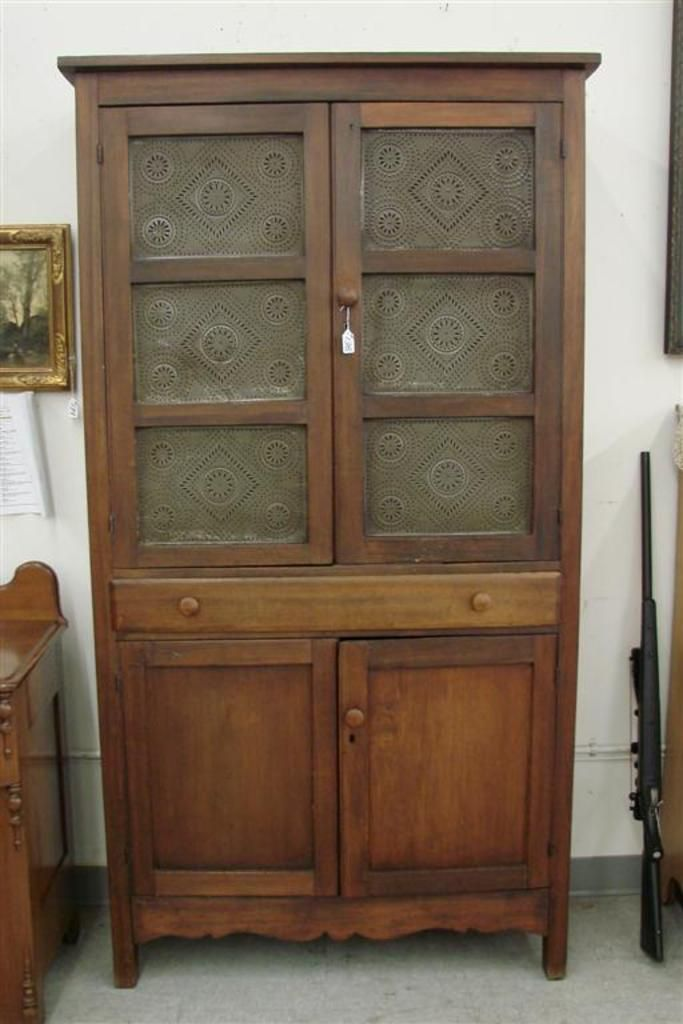 Punched Tin Panel Pie Safe