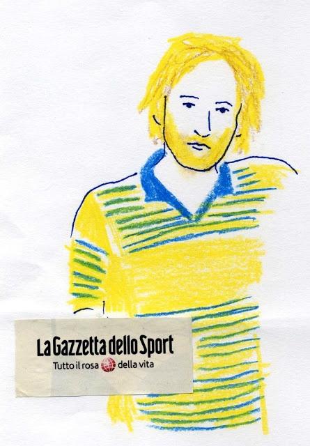 Sporty #illustration #sport #football #lagazzettadellosport  http://dettapini.blogspot.it/2012/08/tutto-il-rosa-della-vita.html