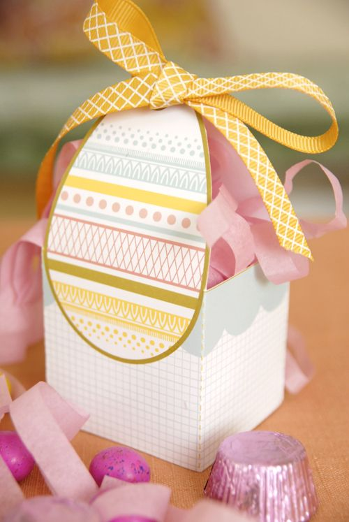 free printable Easter egg gift box-great treat baskets for adults at an Easter weekend brunch or for the parents of the kids at an egg hunt