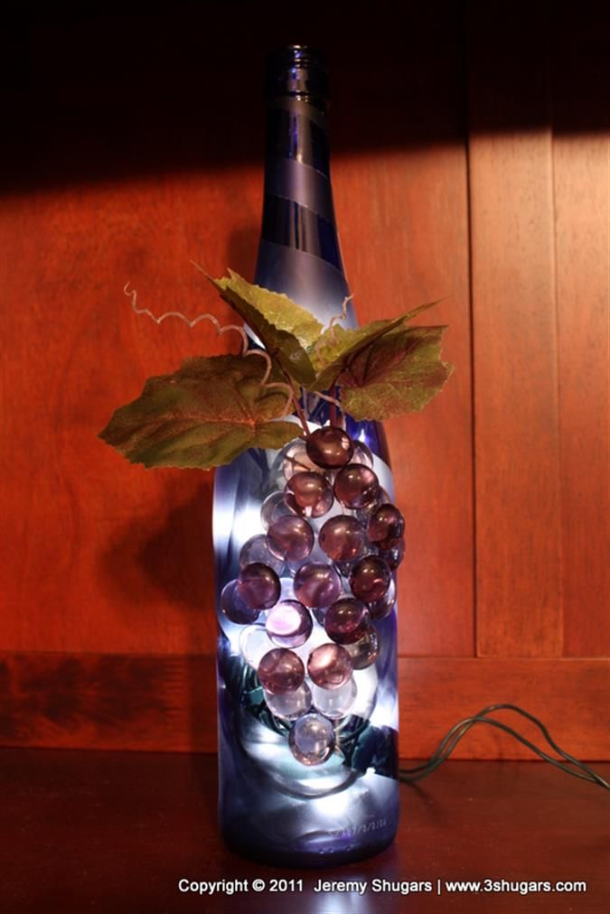 The 63 best images about wine bottles with lights on for Lighted wine bottle craft