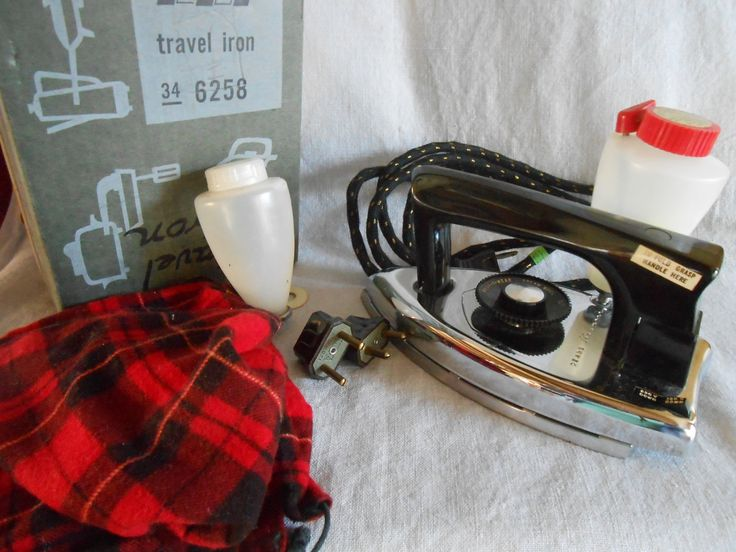 kenmore iron. vintage sears kenmore folding travel steam iron with iron, 2 plug adaptors, cloth cord